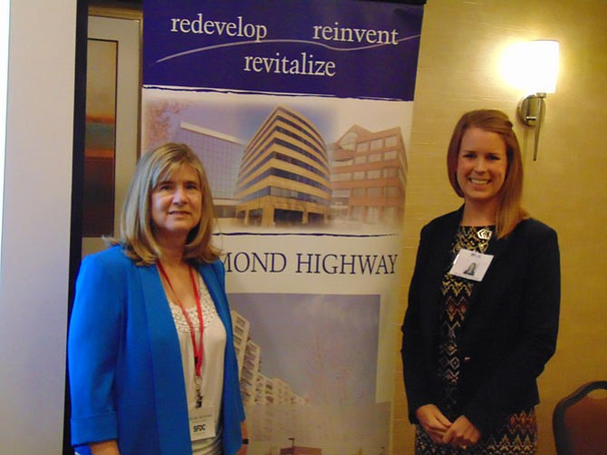 From left: Edythe Kelleher, executive director, Southeast Fairfax Development Corporation, and Kelsey Owen, director of Communications and Public Affairs, the Better Business Bureau