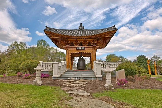 Korean Bell at Meadowlark Garden.