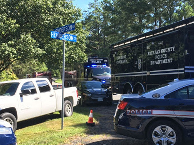 Police respond to a call from a home in the 11900 block of Henderson Court.