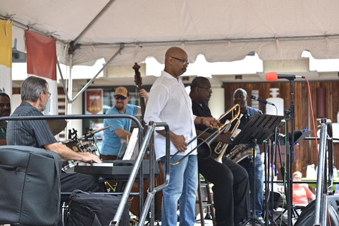 The Mykle Lyons Sextet sounded more like a full jazz orchestra with their big, bold sound.