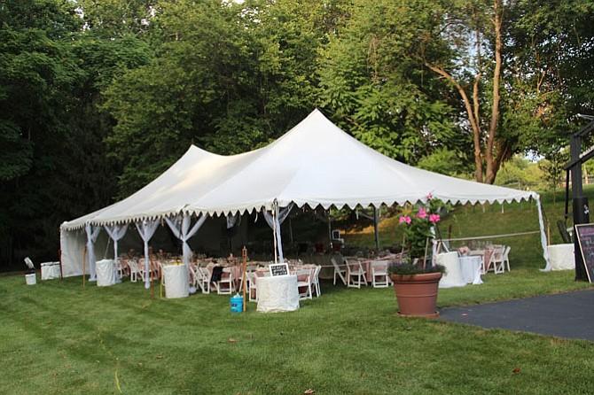 A backyard Potomac wedding in July.