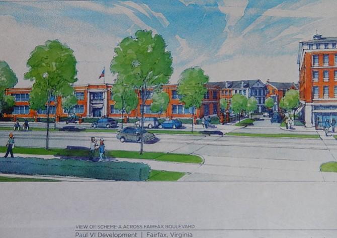 View of Scheme A from Fairfax Boulevard.