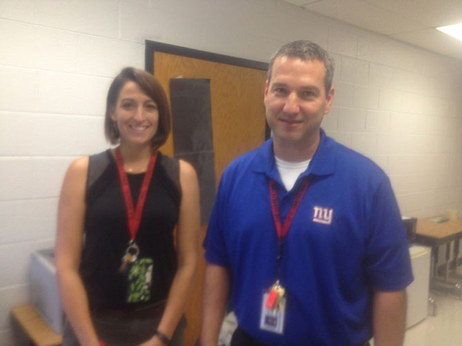 Herndon HS ESOL teachers Megan Sherrill and Richard Cupolo are two of the 26 ESOL teachers at HHS. According to school staff, Herndon HS has the second highest ESOL population in Fairfax County schools.