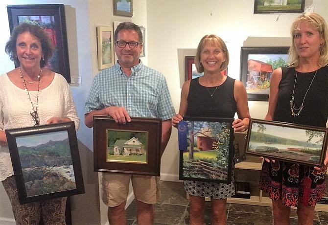 Winners, from left:  Lissa Abrams, Michael McSorley, Marjorie Sharer, and Lori Goll. [Not pictured: Robert Gilbert]