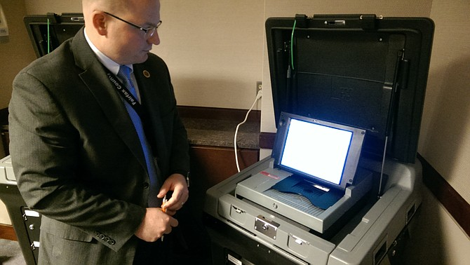 The county purchased a new integrated voting system in 2014 and first used the machines countywide for the Nov. 4, 2014 election. They scan the paper ballots, count and save them, but also save the ballots themselves in case they're needed again.