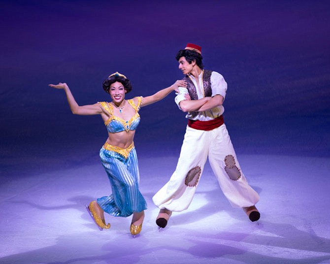 Jessica and Brendyn Hatfield as Jasmine and Aladdin.