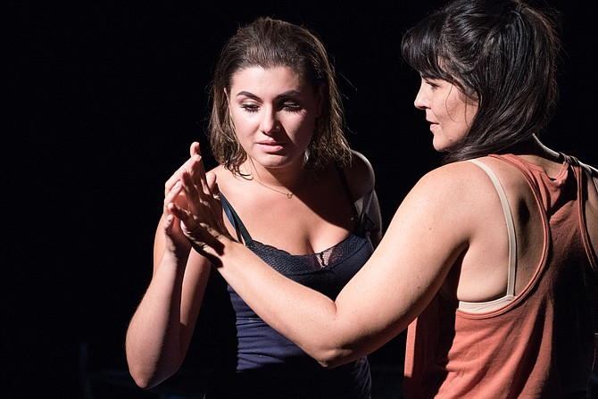 "Rachel Zampelli and Maria Rizzo star in Signature Theatre's production of ""The Gulf"" now through Nov. 6, 2016."
