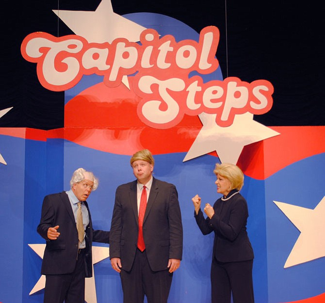 This being a presidential election year, the Capitol Steps show is likely to feature The Donald and Hillary and, maybe, Bernie will show up, too.
