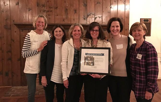 Jill Lavin, Susan Jaffe, Betsy Gorgei, Make A Wish representative Samantha Zipp Dowd, Linda Mathuran and Louise Brophy.