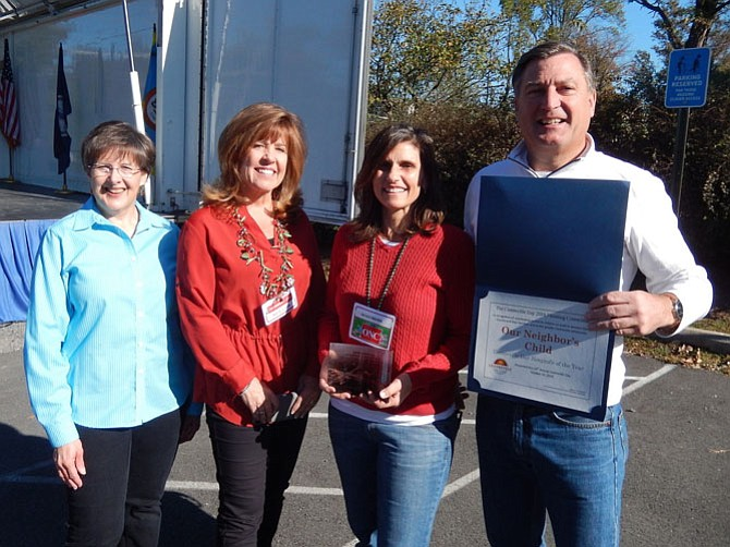From left are Kathy Smith with ONC's Kelly Lavin, Nicole Rogers, and John O'Neill.