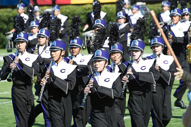 Chantilly High School's Mighty Marching Chargers marching band competes Saturday, Oct. 15 in the Bands of America Regional Championship at the University of Delaware in Newark, Del. Band members include Seungmin Lee, Daniel Zhao, Sarah Navis, Shari Tian, Kaylin Yang, Glenn Hogan, and Anastasiia Naumova.