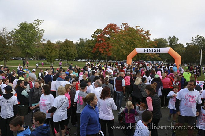Approximately 500 people participated in Walk to Bust Cancer's inaugural event on Oct. 16 at Fort Hunt Park to benefit the National Breast Center Foundation. See www.walktobustcancer.org.