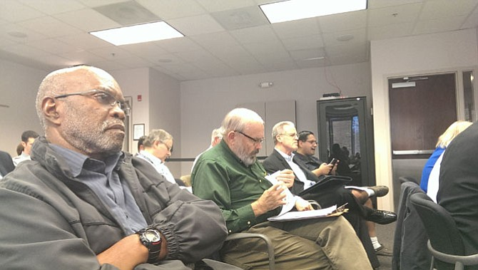 Randy Sayles (left) with Ad Hoc Police Practices Review Commission and subcommittee members John Lovaas, Phil Niedzielski-Eichner and George Becerra said he is very optimistic both the auditor's office and civilian review panel will be beneficial to the supervisors, police and citizens.