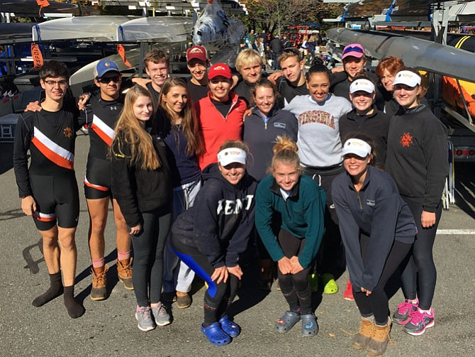 The First 8 Women's and Men's teams between their races on Oct. 23.