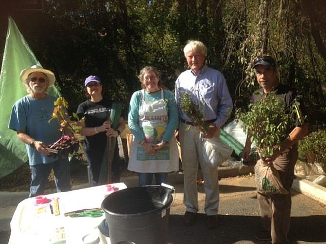 The Great Falls Citizens Association, in conjunction with Fairfax ReLeaf, organized a tree sapling program this fall. On Saturday Oct. 29 and Sunday Oct. 30, local residents picked up about 400 free tree saplings they had ordered earlier through GFCA's website.
