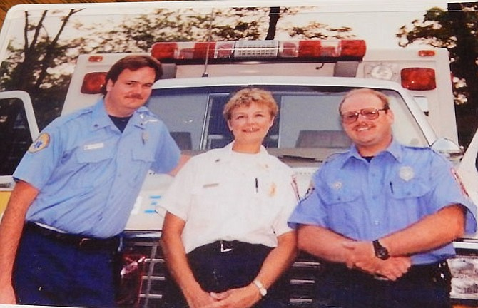 From left are Dave Parker, Sue Yamashita and Pete Kirby in the late 1980s.