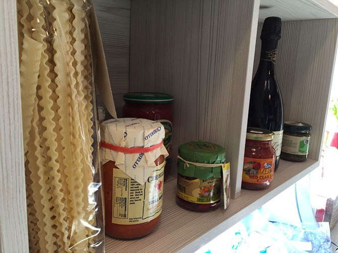 The shelves at The Italian Place are lined with international goodies perfect for a festive dinner.