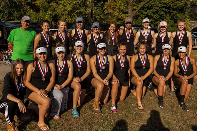 ODBC Women's 1V and 2V at Head of the Schuylkill on Oct. 30.