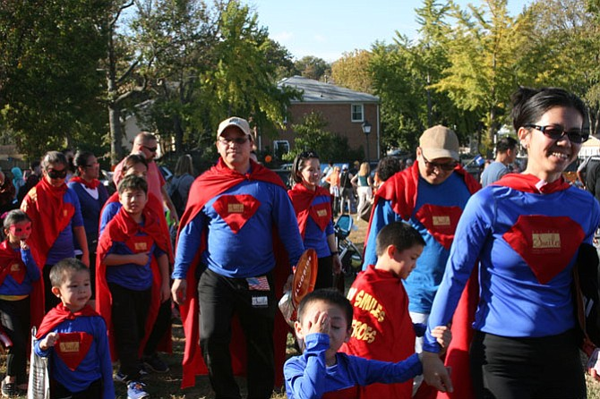 Crowds came to Del Ray to celebrate Halloween.