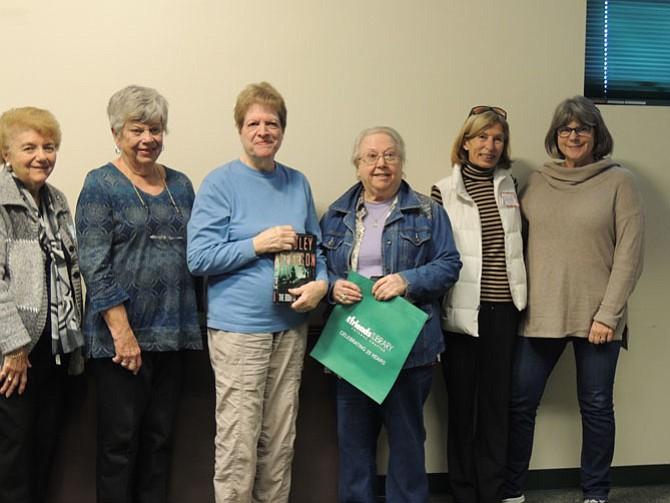 Doris Valis; Gerry Bernard; Judy Davis, book sale chair for more than 15 years; Gladys Hertzberg; Karin Currie; and Denice Shaw