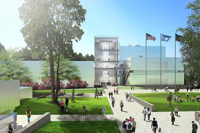 Artist's rendering of the National Museum of the United States Army