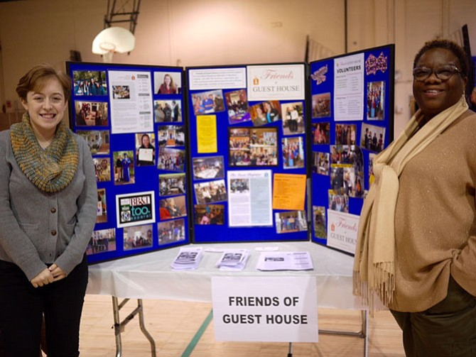 Dallice Joyner, deputy director of Friends of Guest House Alexandria, and colleague Abby Picard, an intern from George Mason University, were at the fair to talk about Friends of Guest House. Guest House helps reentering women and their families. It was founded in 1974 by Betty McConkey, a Federal parolee.