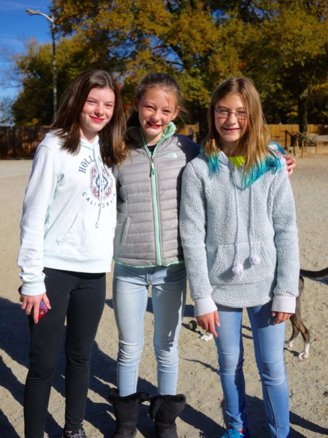 Rachel Clark, Caroline Clark, and Michaeline Becknell — all of Williamsburg Middle School — voiced their views on the election.