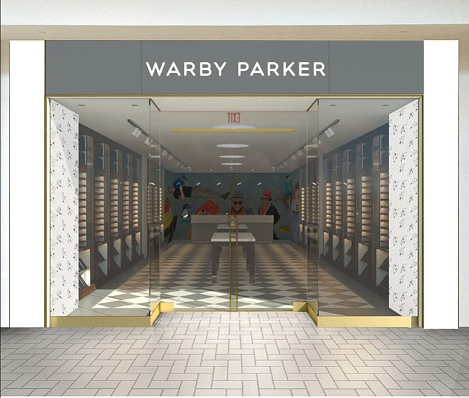 Warby Parker, a popular online eyeglasses retailer, is opening its first brick-and-mortar location in Virginia on Nov. 19 at Tysons Corner Center mall.