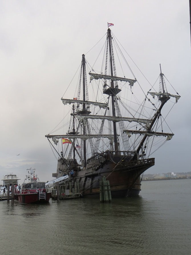 El Galeon docked at the Alexandria Waterfront.