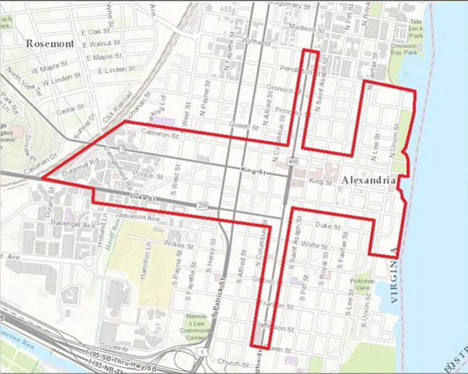 Boundaries for the proposed Business Improvement District