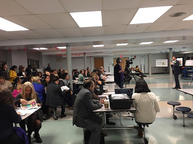 ACPS parents, students, and teachers at a redistricting public forum on Nov. 14.
