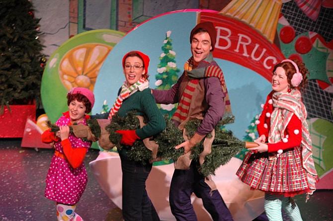 'Fancy Nancy's Splendiferous Christmas' cast.