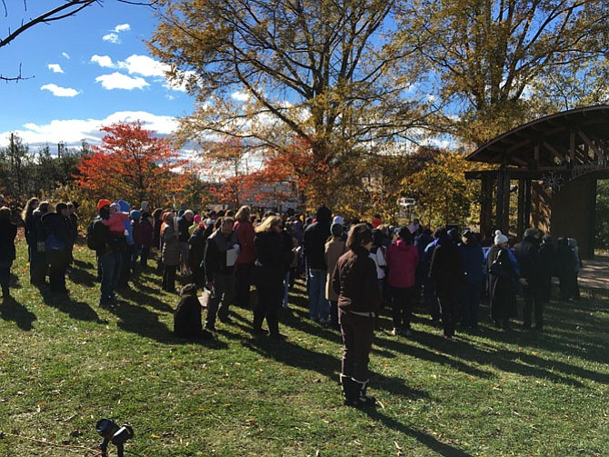 Approximately 150 people walked from the Vienna Town Hall to the Town Green in a display of unity. Rally co-organizer Laura Magane Goyer says the walk and rally are inclusive, showing compassion toward one another.