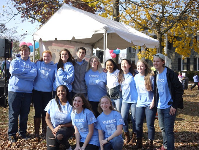 Yorktown Chamber Choir sang at the Jennifer Bush-Lawson Family event as a gesture of community solidarity.