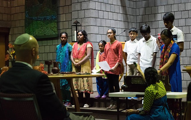 The Nov. 22 service featured traditions of prayer and musical performance from Christianity, Islam, Hinduism and Judaism, including individual groups from the participating faith communities and a combined choir.