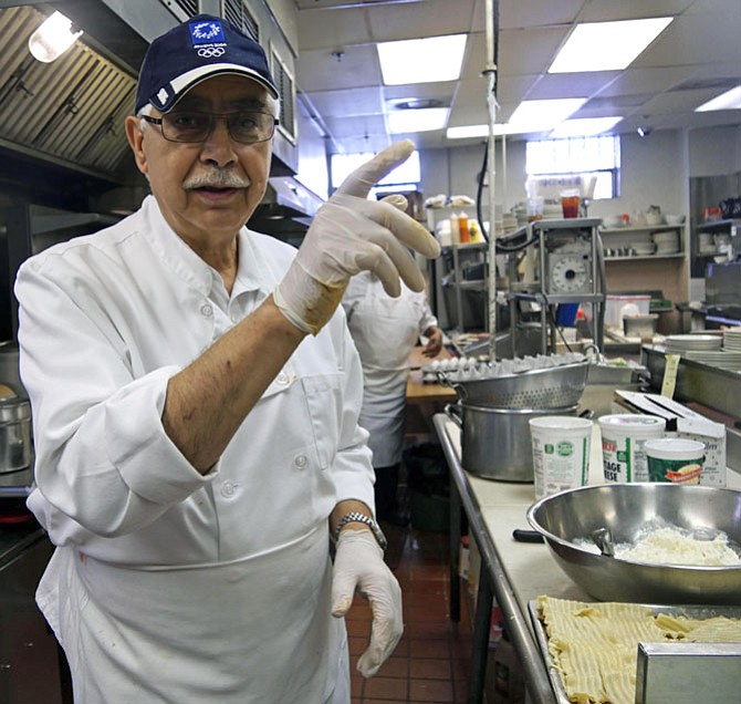 Chef Richard Euripides says he came over from Cyprus as a refugee when they had a war. He has been cooking at the Royal Restaurant since 1974.