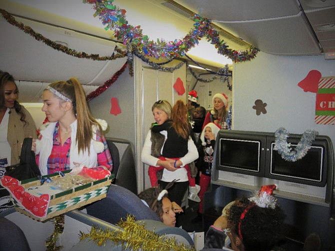 Oak Hill Herndon Fantasy Flight 2016: Children with life-challenging illnesses and their families board Sleigh Ride One, nonstop service to the North Pole, for a day of holiday cheer and a private visit with Santa Clause. United Airlines hosted the day with the support of hundreds of volunteers and regional businesses.