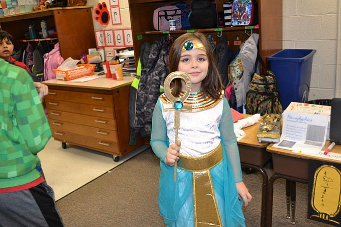 Learning about Egypt at Poplar Tree Elementary