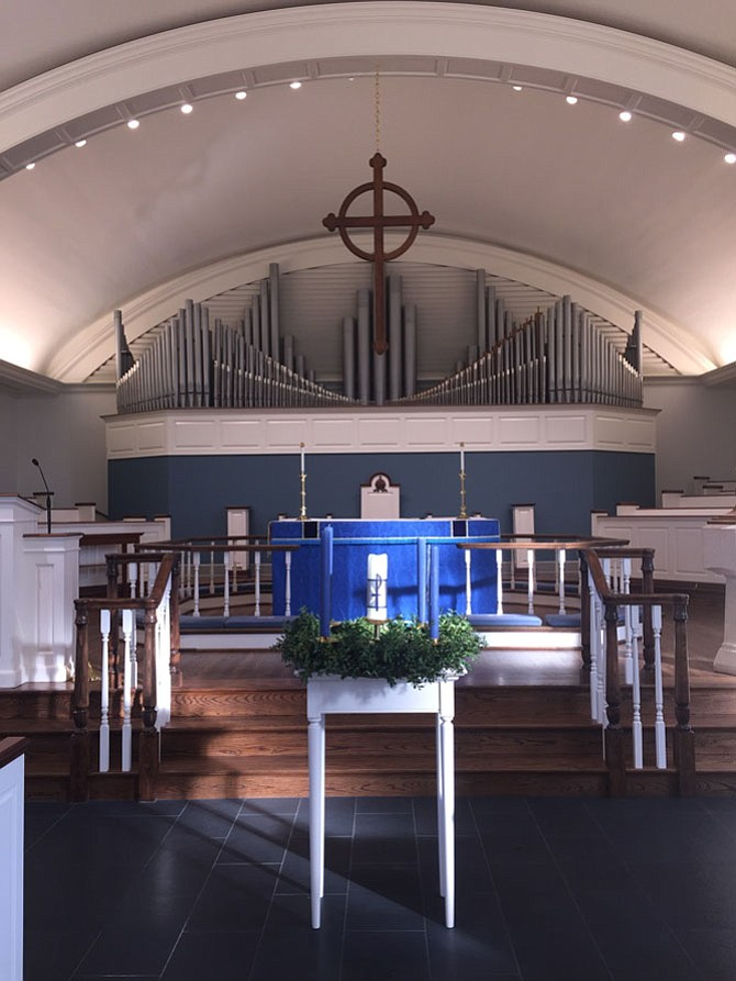 Inside the newly renovated St. Francis Episcopal Church