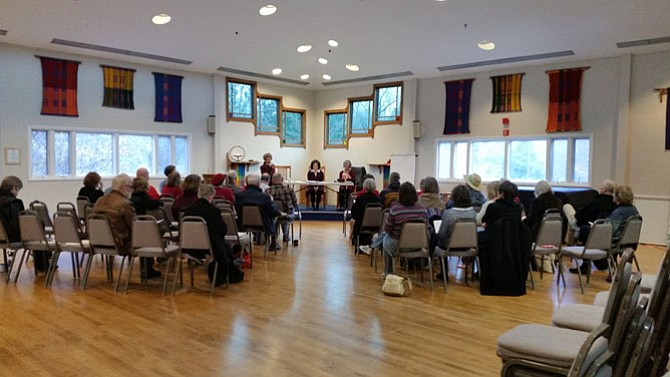 "Three speakers discussed ""the art of the possible"" at a legislative forum held Dec. 4 at Accotink Unitarian Universalist Church in Burke."