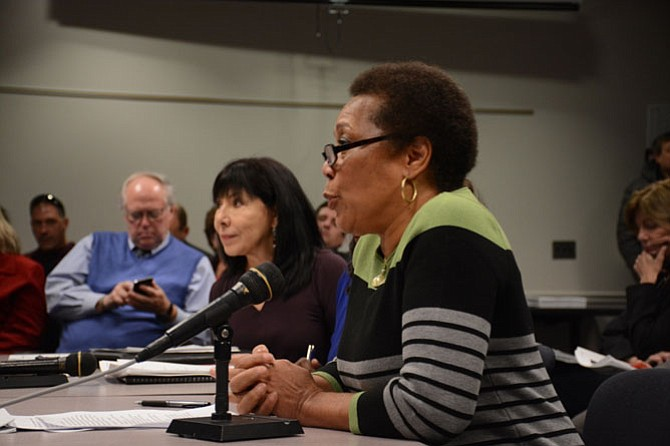 A Dec. 13 presentation from Ad Hoc Police Practices Review Commission, Recruitment, Diversity and Vetting subcommittee chair Shirley Ginwright (right), marked the last subcommittee to be heard by the supervisors.