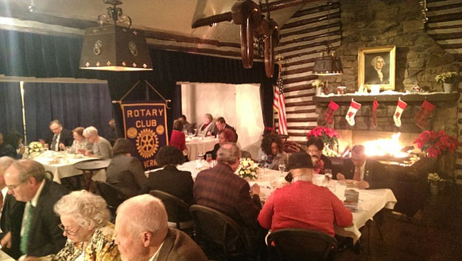Mount Vernon Rotarians celebrated their chapter's 40th anniversary Wednesday Dec. 7 at Cedar Knoll restaurant.