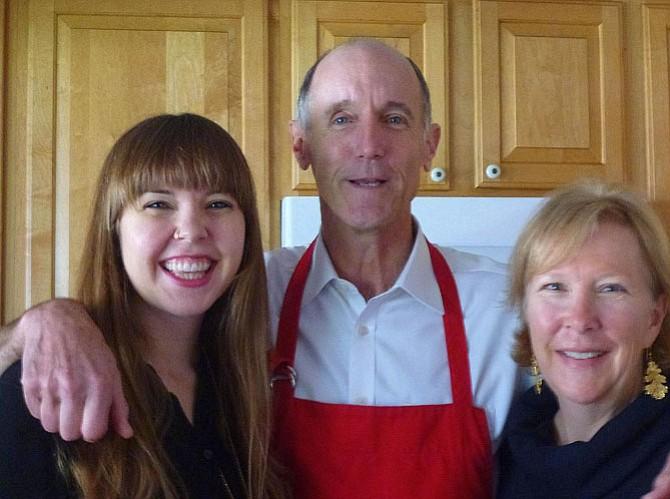 Caroline, Jamie and Donna Netschert on Thanksgiving 2014.