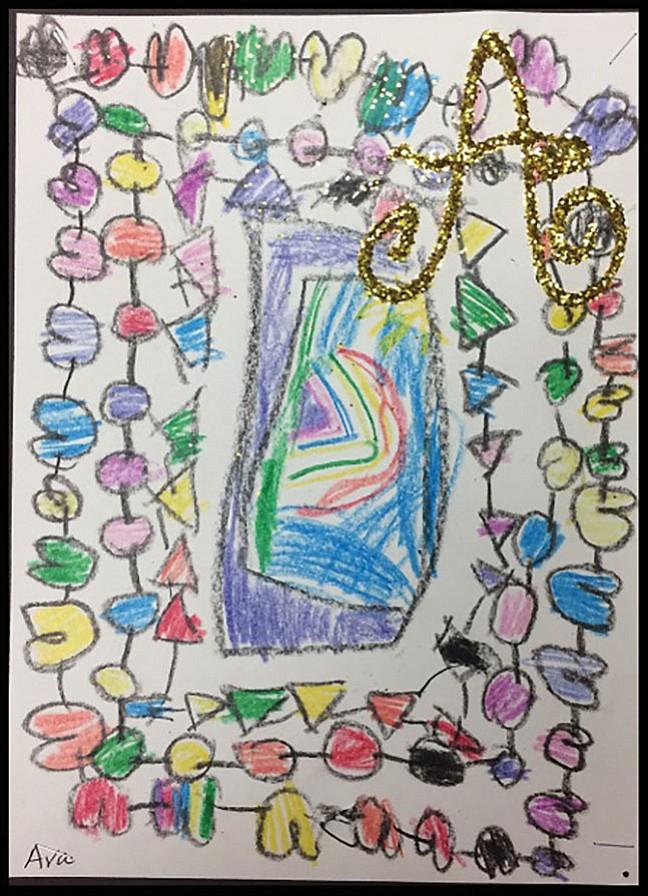 Ava Rouhanian, 4, Potomac, kindergarten, Art History — Illuminated Letters