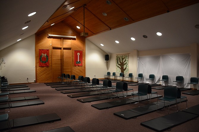 Between 25 and 30 homeless people spend the night at Burke United Methodist Church during their week hosting part of the Fairfax County hypothermia prevention program.