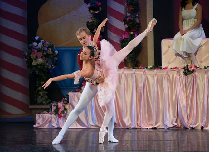 Emilie Gregory of Great Falls and professional Philip Smith-Cobbs of Herndon star as the Sugar Plum Fairy and Cavalier in .Classical Ballet Theatre's 'Nutcracker.'