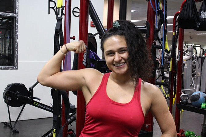 """Briget Borges, 23, of Reston """"I mostly just want to stay consistent with eating right. I need to mindfully eat rather than emotionally eat. I will use MyFitnessPal [calorie counting smartphone app] or maybe I'll keep a journal."""""""