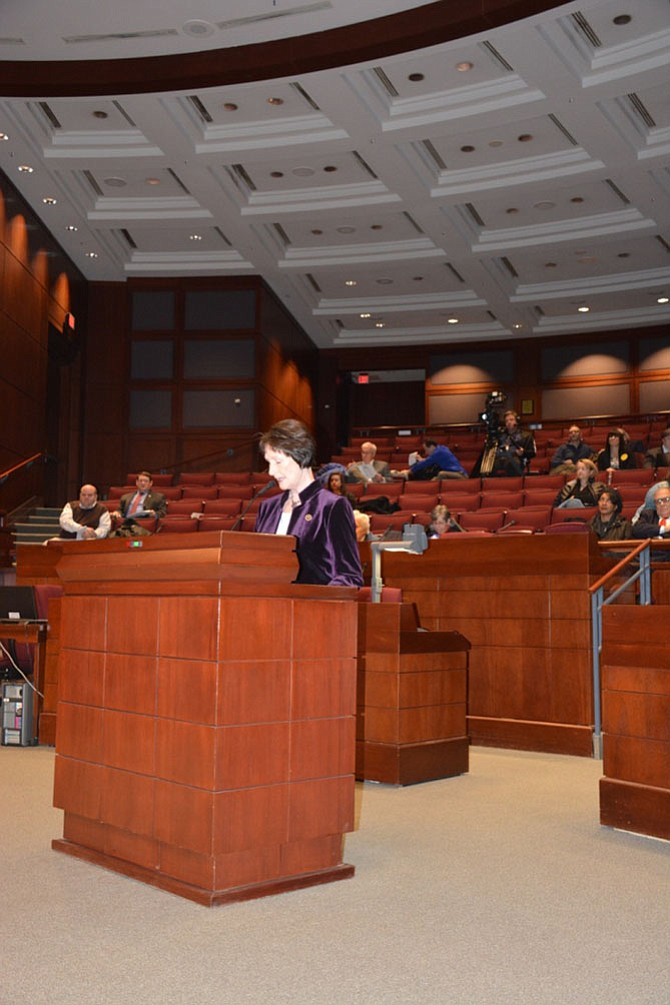 Education was once again an important topic for many speakers at the Jan. 7 public hearing for the Fairfax delegation to the General Assembly, beginning with Board of Supervisors chairman Sharon Bulova.