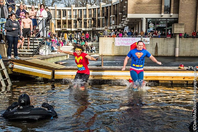 Hundreds will mark ten years jumping into a frigid lake for a children's charity.