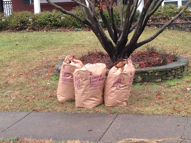 The use of plastic bags to recycle yard waste is being challenged, as earlier this fall, Fairfax County quietly announced in September 2016 that residents should switch to using paper bags instead.
